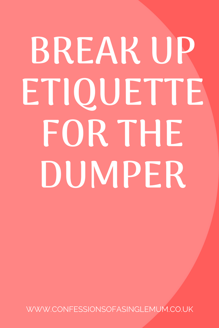 rules of dating after a break up