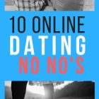 10 Online Dating No No's