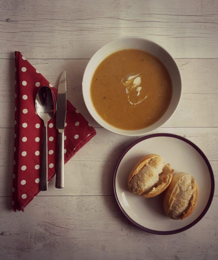 Butternut and chestnut soup 1
