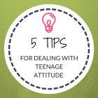 5 Tips in Dealing with Teenage Attitude