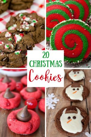 20 Christmas cookies pinterest with text