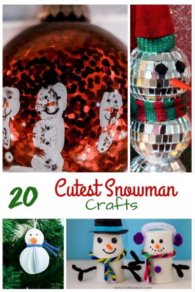 20 cutest snowman crafts with text