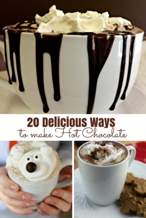 20 way with hot chocolate Pinterest With Text