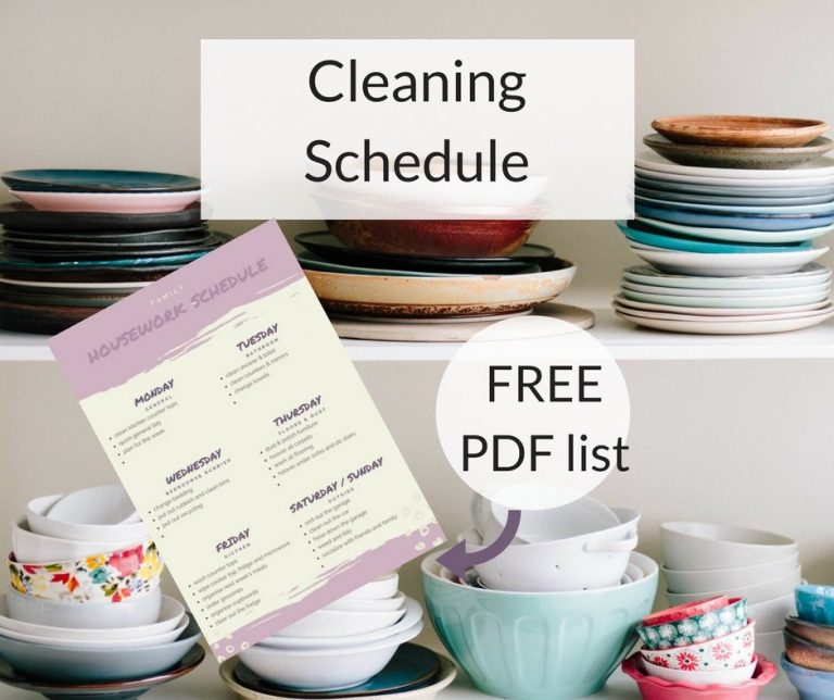 Housework and Cleaning Schedule