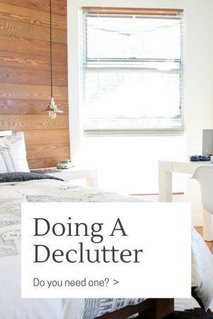 Doing A Declutter