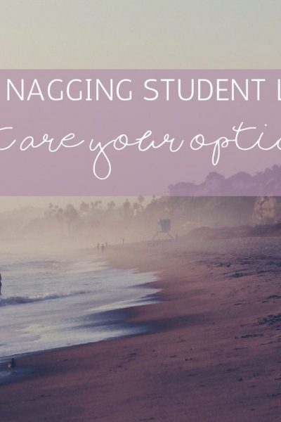 Those Nagging Student Loans – What are Your Options?