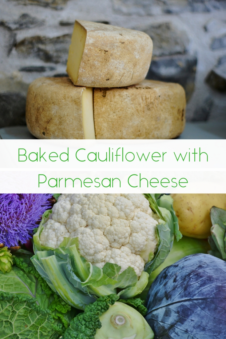 Baked Cauliflower with Parmesan Cheese