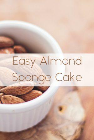 Easy Almond Sponge Cake 1