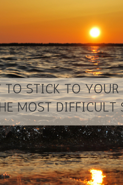 How To Stick To Your Goal – The Most Difficult Step