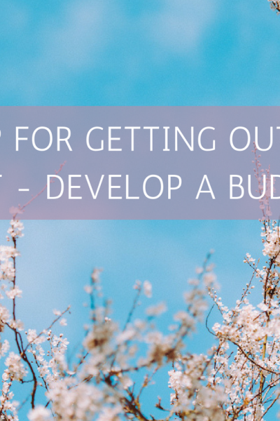 Step for Getting Out of Debt – Develop a Budget