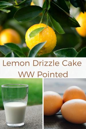 Lemon Drizzle Cake WW Pointed