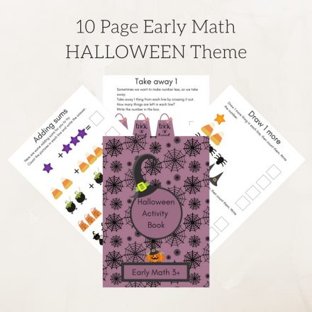 10 Page Early Math HALLOWEEN Theme