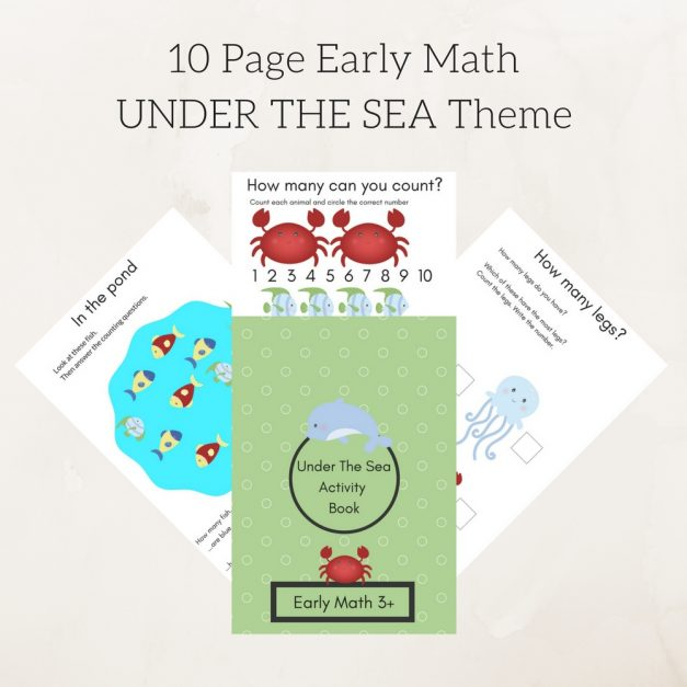 10 Page Early Math UNDER THE SEA Theme