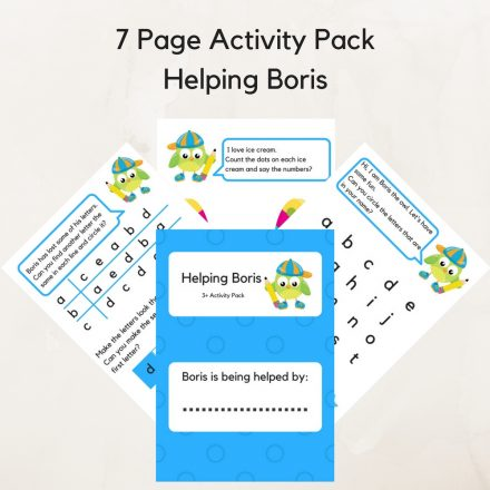 7 Page Activity Pack Helping Boris