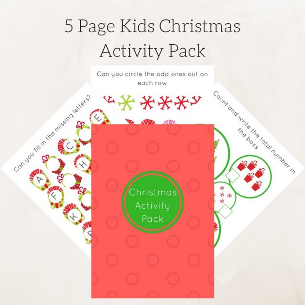 christmas activity pack 1