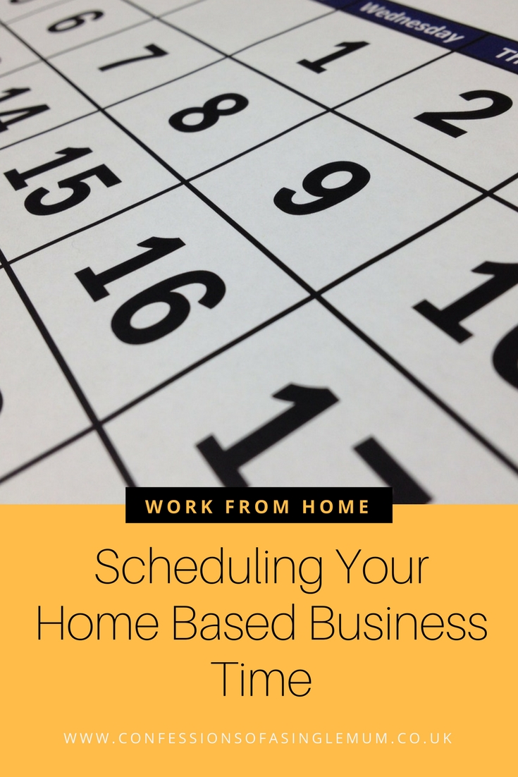 Scheduling Your Home Based Business Time