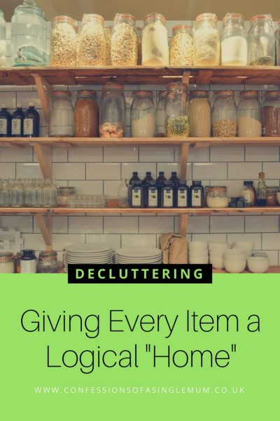 "Decluttering – Giving Every Item a Logical ""Home"""