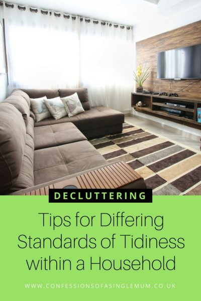 Tips for Differing Standards of Tidiness within a Household