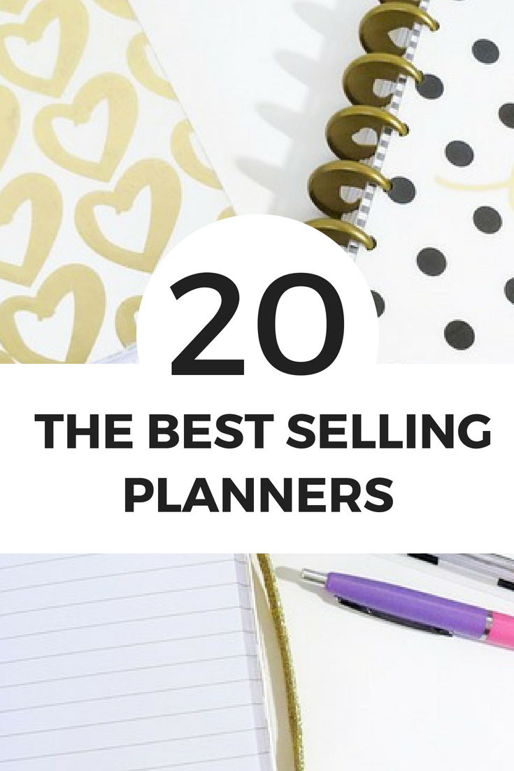 20 Of The Best Selling Planners