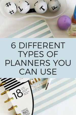 6 Different Types of Planners You Can Use