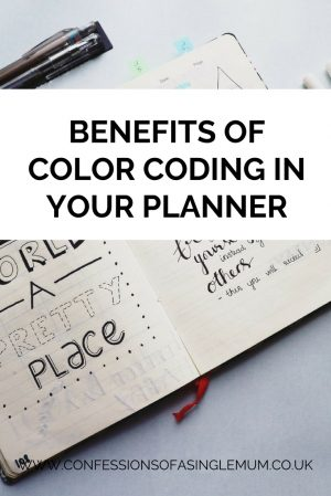Benefits of Color Coding in Your Planner