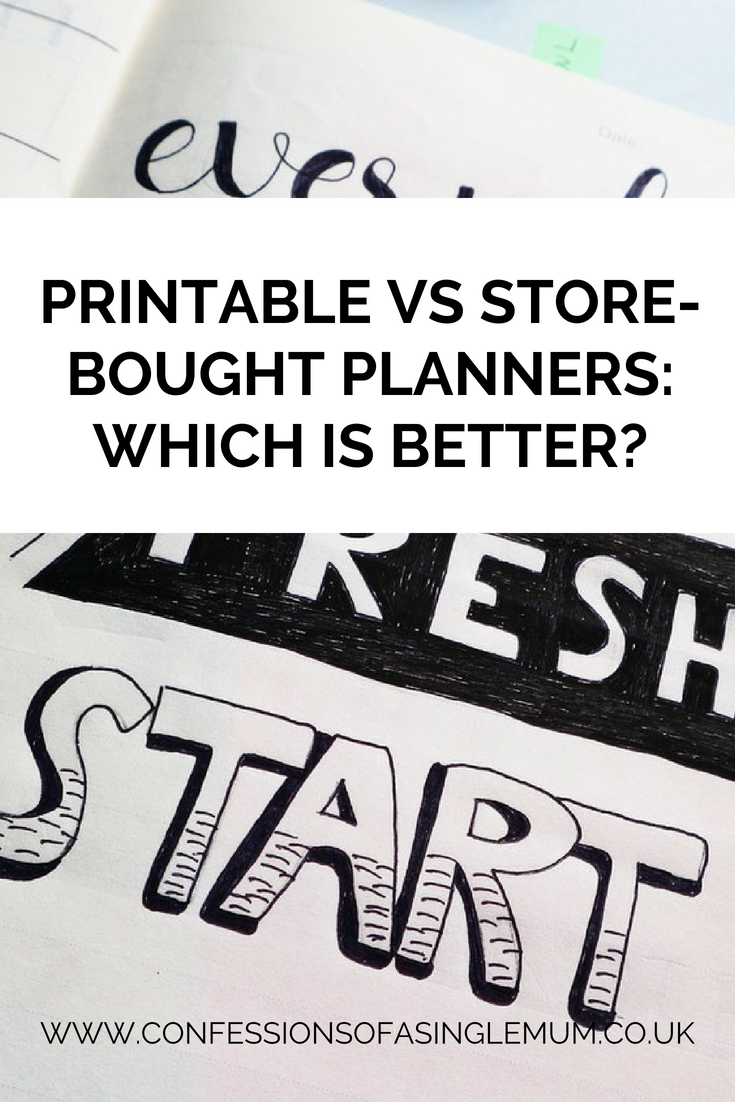 Printable VS Store Bought Planners Which is Better