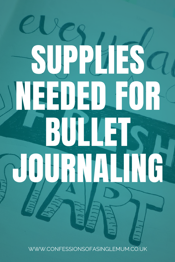 Supplies Needed for Bullet Journaling 1