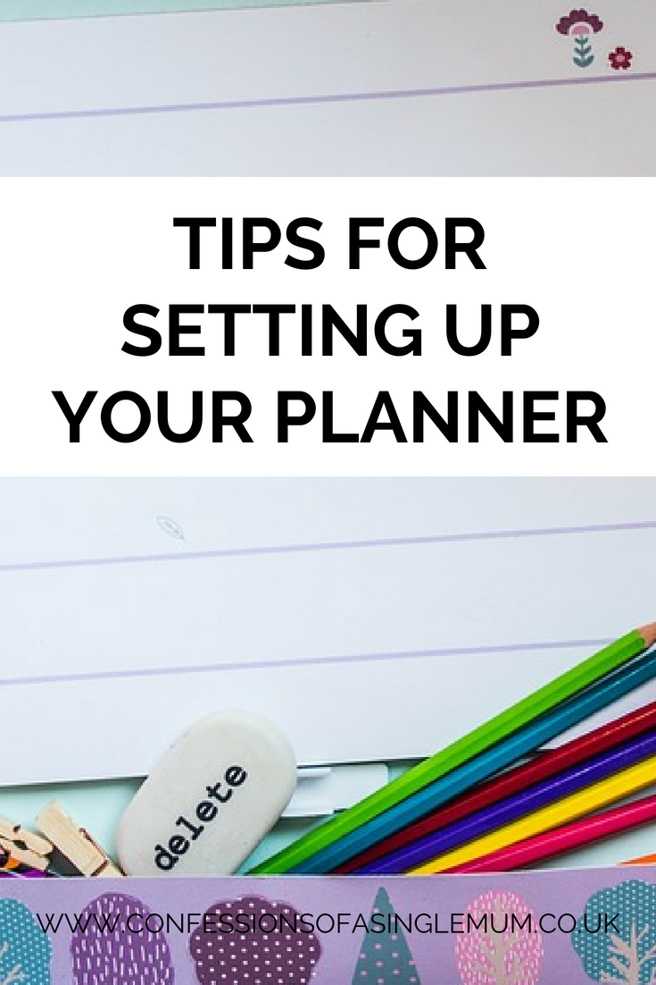 Tips for Setting Up Your Planner