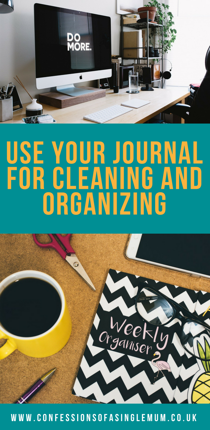 Use Your Journal for Cleaning and Organizing 1