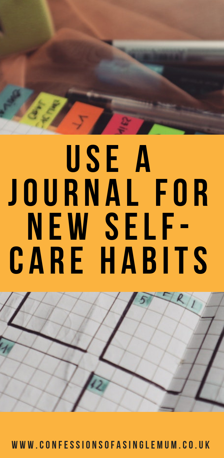 Use a Journal for New Self Care Habits