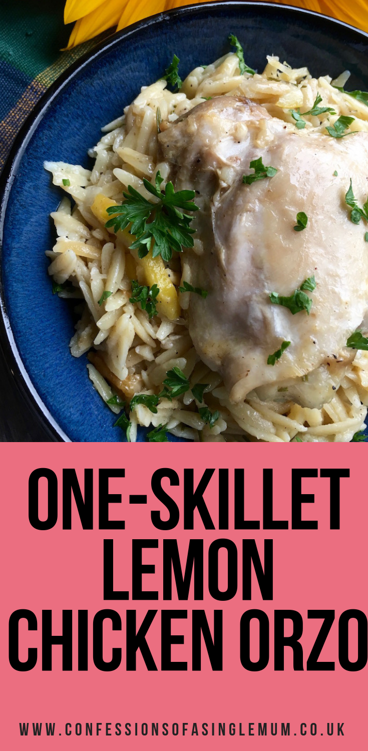 One Skillet Lemon Chicken Orzo