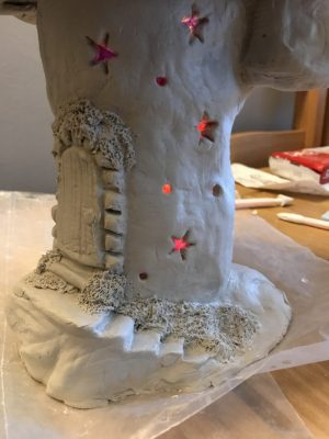 fairy castle in air dry clay