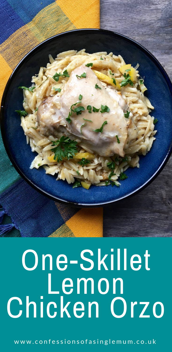 One Skillet Lemon Chicken Orzo 1