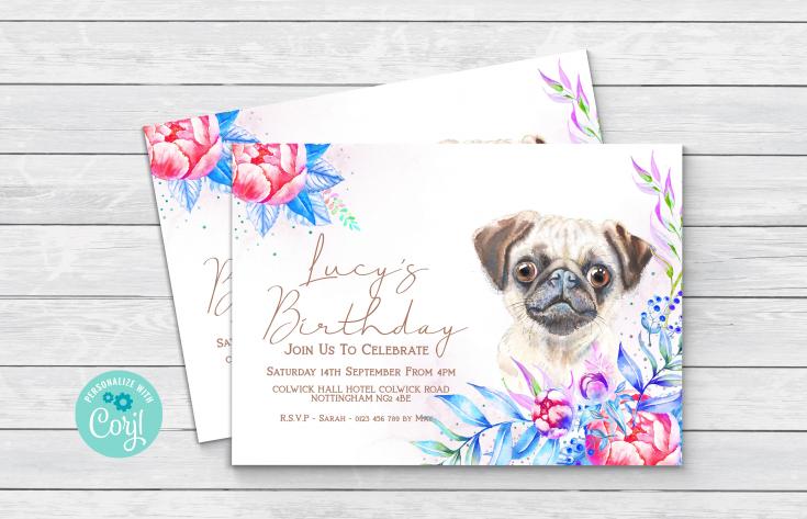 Pug Invitation